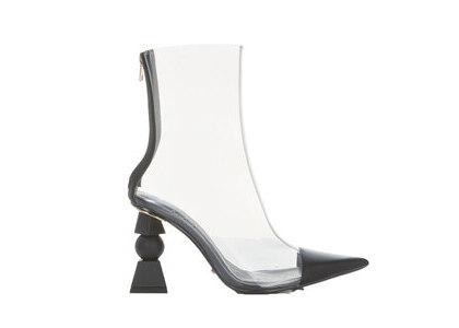 YELLO Ink Clear Short Boots Blackの写真