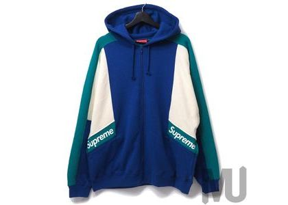 Supreme Color Blocked Zip Up Hooded Sweatshirt Royalの写真