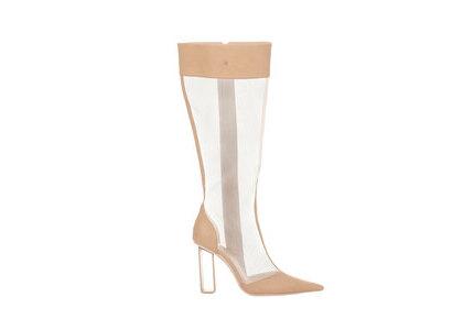 YELLO Bare Mesh Long Boots Beigeの写真