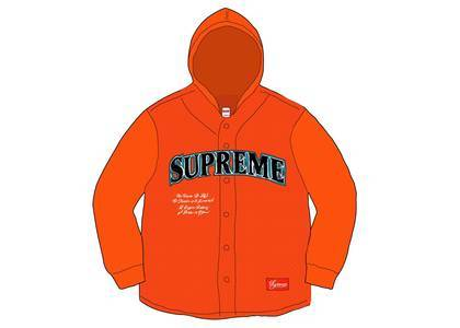 Supreme Mesh Hooded L-S Baseball Jersey Orangeの写真