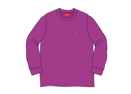 Supreme Small Box L/S Tee (SS20) Purpleの写真