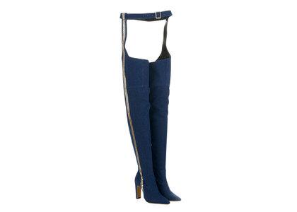 YELLO Demi Belt Boots Blueの写真