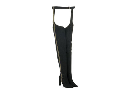 YELLO Gio Belt Boots Blackの写真