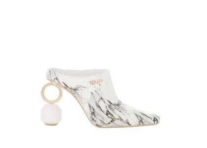YELLO Wilhelmina Sabot Heels Whiteの写真