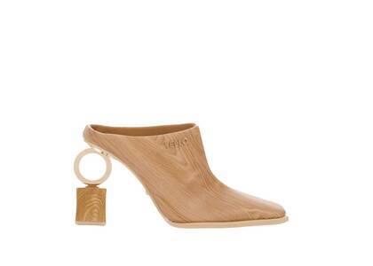 YELLO Hinoki Sabot Heels Brownの写真