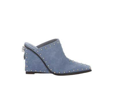 YELLO Moose Sabot Heels Blueの写真
