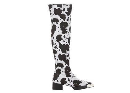 YELLO Baby Moo Knee Boots Whiteの写真