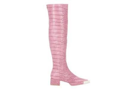 YELLO Posie Knee Boots Pinkの写真