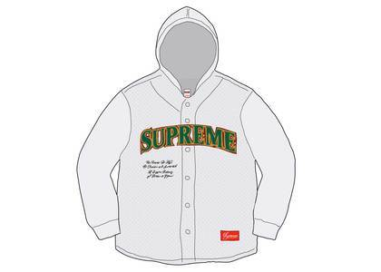 Supreme Mesh Hooded L-S Baseball Jersey Whiteの写真