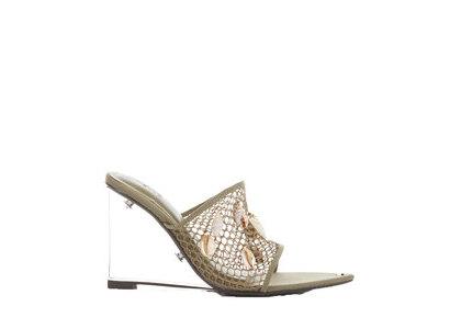 YELLO Atlantis Mesh Wedge Sandals Oliveの写真