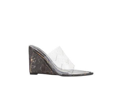YELLO Shamanite Wedge Sandals Blackの写真