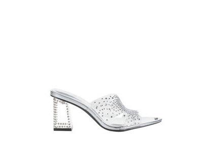 YELLO Diamonds Crystal Middle Heels Clearの写真