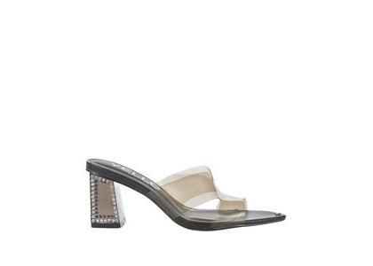 YELLO Smoke Crystal Middle Heels Blackの写真