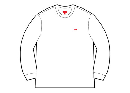 Supreme Small Box L/S Tee (SS20) Whiteの写真