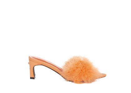 YELLO Trixie Low Heel Sandals Orangeの写真