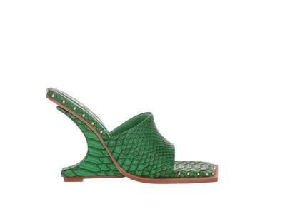 YELLO Shenlong Deformed Wedge Sandals Greenの写真