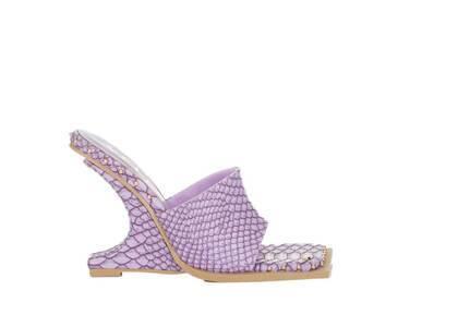 YELLO Baby-D Deformed Wedge Sandals Purpleの写真
