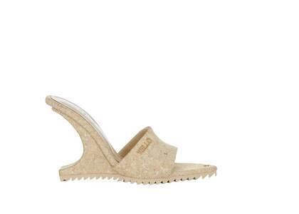 YELLO South Beach Deformed Wedge Sandals Beigeの写真