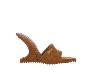 YELLO Twilight Deformed Wedge Sandals Brownの写真