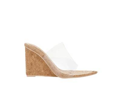YELLO Sandy Toes Wedge Sandals Brownの写真