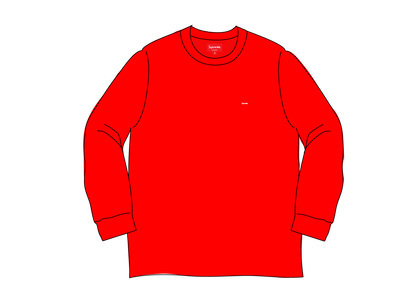 Supreme Small Box L/S Tee (SS20) Redの写真