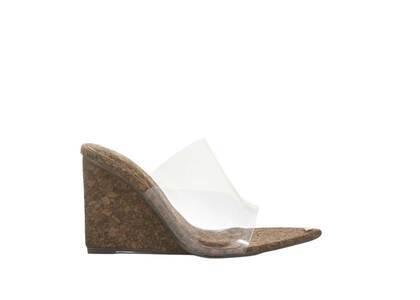 YELLO Sunkisd Toes Wedge Sandals Dark Brownの写真