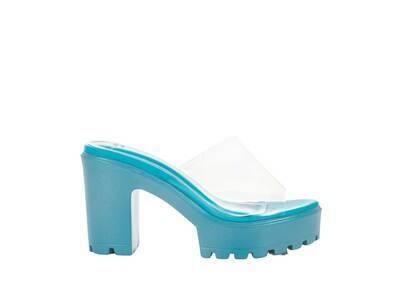 YELLO True Blue Platform Sandals Blueの写真