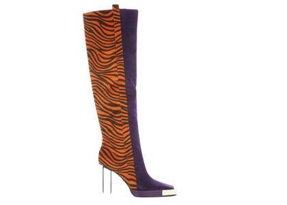 YELLO Inpara Knee Boots Purpleの写真