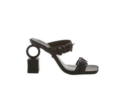 YELLO Knight Ring Sandals Blackの写真