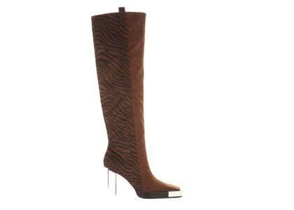 YELLO Jua Knee Boots Brownの写真