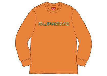 Supreme Meta Logo L-S Top Orangeの写真