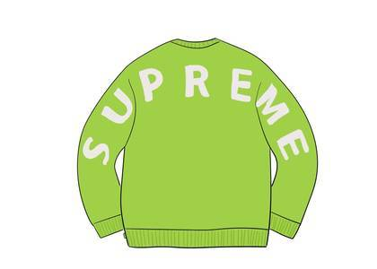 Supreme Back Logo Sweater Greenの写真