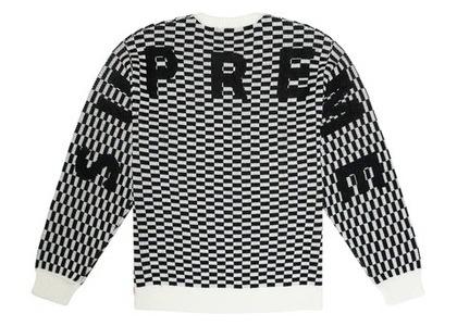 Supreme Back Logo Sweater Checkerboardの写真