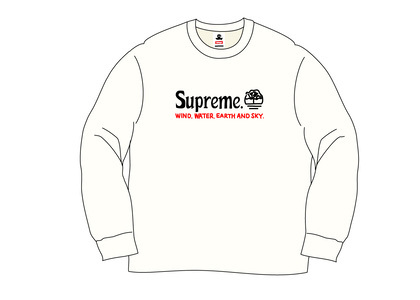 Supreme Timberland Crewneck Naturalの写真