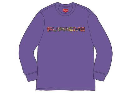 Supreme Meta Logo L-S Top Purpleの写真