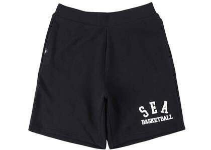 WIND AND SEA Warm Up Sweat Shorts Black / Whiteの写真