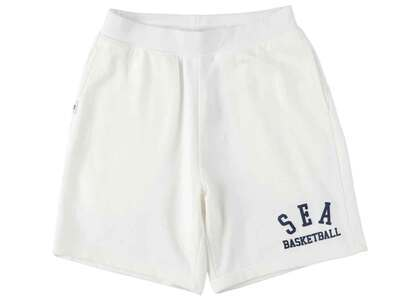 WIND AND SEA Warm Up Sweat Shorts Whiteの写真