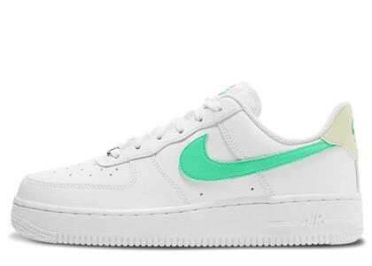 Nike Air Force 1 07 Low White Light Green Womensの写真