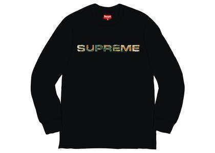 Supreme Meta Logo L-S Top Blackの写真
