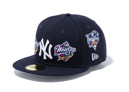 New Era 59Fifty World Champions Newyork Yankees Gray Under Visor Navyの写真
