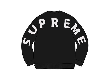 Supreme Back Logo Sweater Blackの写真