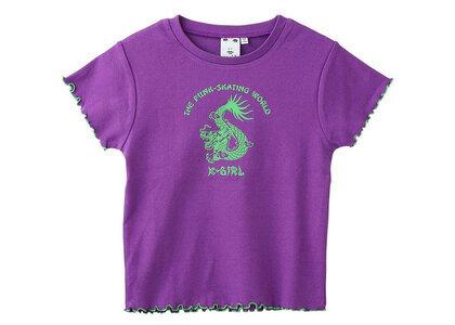 X-Girl Chinese Dragon Baby Top Purpleの写真