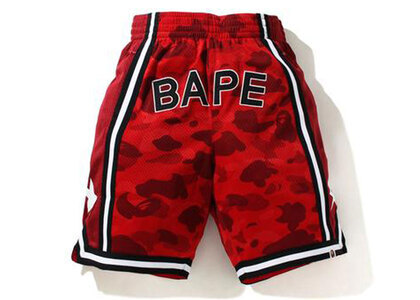 Bape Color Camo Wide Basketball Shorts Red (SS21)の写真