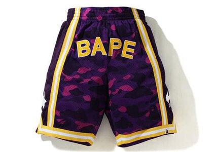 Bape Color Camo Wide Basketball Shorts Purple (SS21)の写真