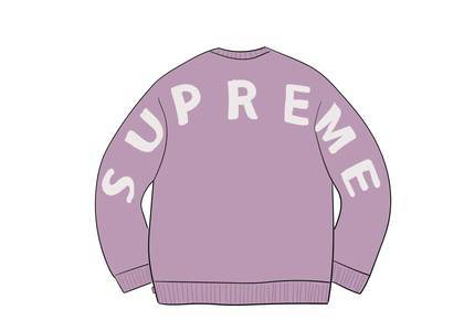Supreme Back Logo Sweater Lilacの写真