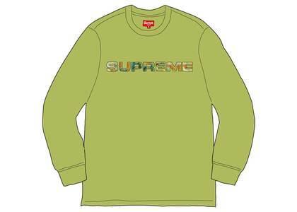 Supreme Meta Logo L-S Top Limeの写真