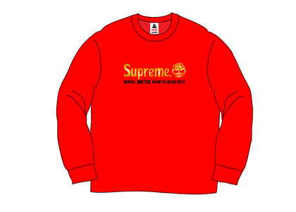 Supreme Timberland Crewneck Redの写真