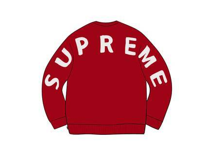 Supreme Back Logo Sweater Redの写真