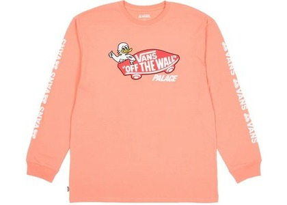 Palace × Vans Duck Out Longsleeve Fusion Coral (SS21)の写真