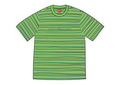 Supreme Blocked Stripe S-S Top Greenの写真